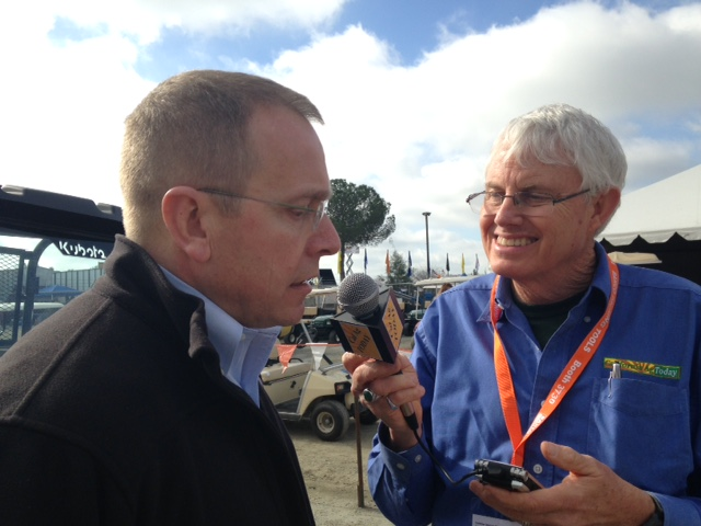 Foreign Agricultural Service Administrator Phil Karsting discussed the importance of Trade Promotion Authority with Patrick Cavanaugh of California Agriculture Today at the World Ag Expo in Tulare, Calif., on February 10.