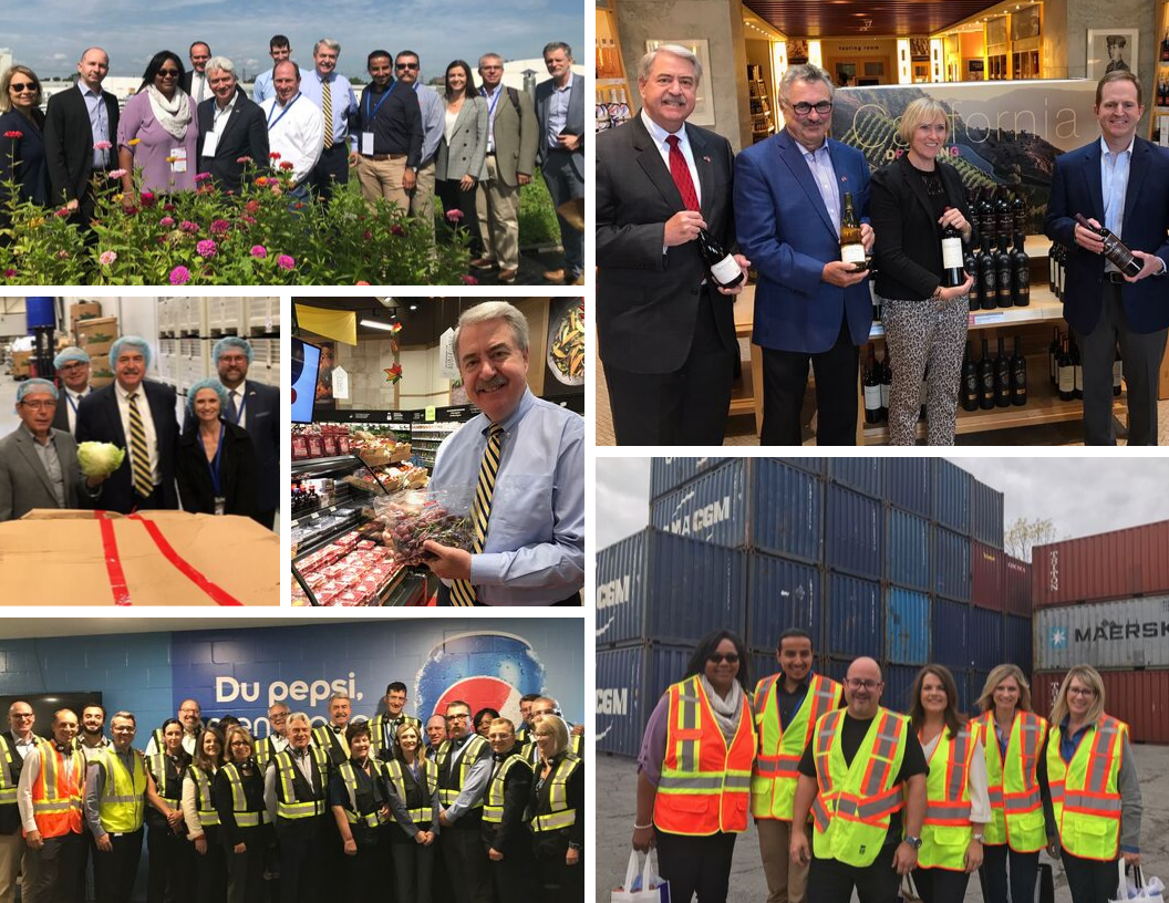 Photos of USDA Canada trade mission in September 2019.