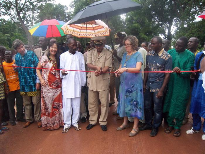 Officials inaugurate the first renovated road funded by USDA in Laty, Senegal.
