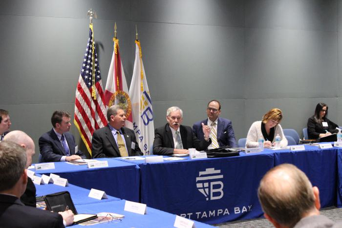 Under Secretary Michael Scuse meets with Florida agriculture leaders at the Port of Tampa on Feb. 9.