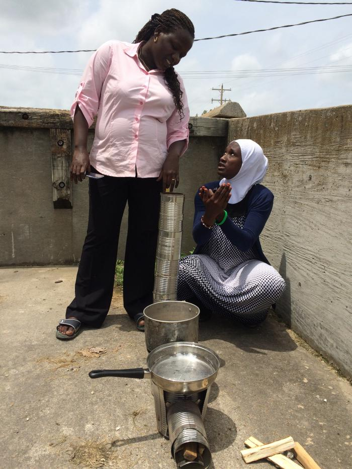 Cochran Fellows receive training from the USDA Forest Products Laboratory during a hands-on workshop on low-cost, high-efficiency cooking stoves.