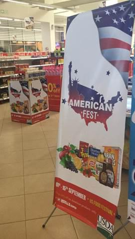Convenient product displays throughout the Keells Super stores showcased the U.S. food items during the American Food Festival.