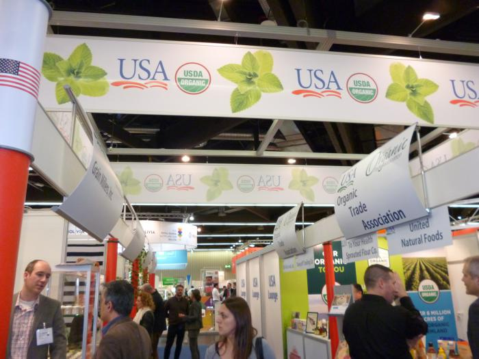 Buyers from around the world browse the USA Pavilion at BIOFACH 2017, the world's largest organic trade show.