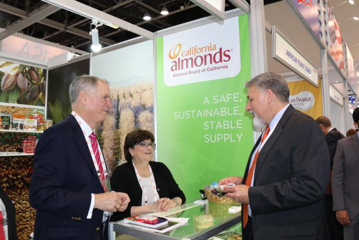Tree nuts, like those from the Almond Board of California, were one of most sought-after U.S. products showcased at the Gulfood 2017 USA Pavilion.
