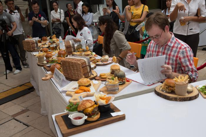 Paul Welcher judges the Great American Burger – in Thailand!