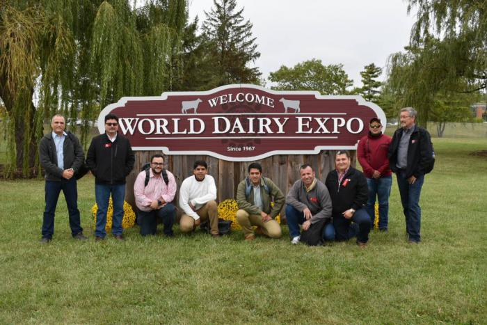 The Venezuelan Cochran fellowship team at the World Dairy Expo in Madison, WI