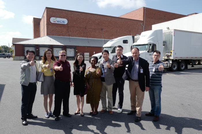 The China e-commerce team Visits WCS Logistics in Winchester, VA