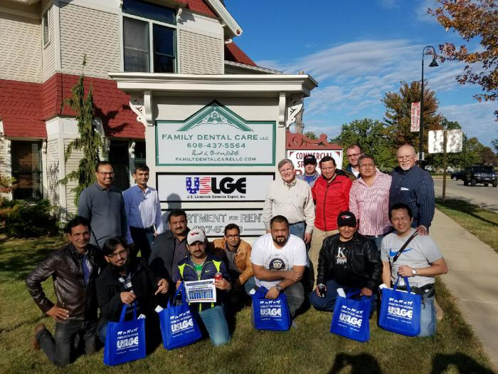 The Pakistan Cochran team with friends at USLGE's headquarters.