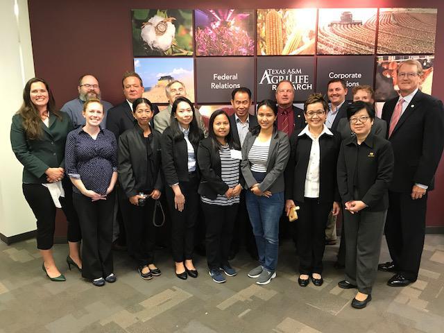 The Thai Cochran team at Texas A&M in September.