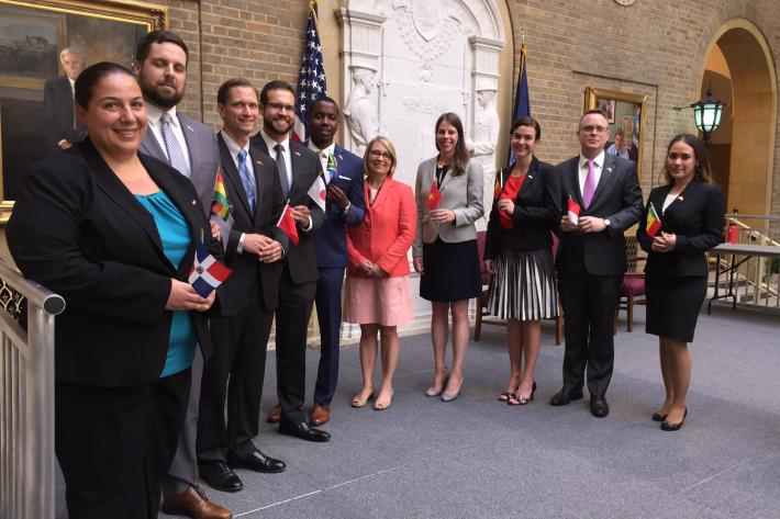 Nine Newest agricultural Officers Sworn Into The Foreign Service