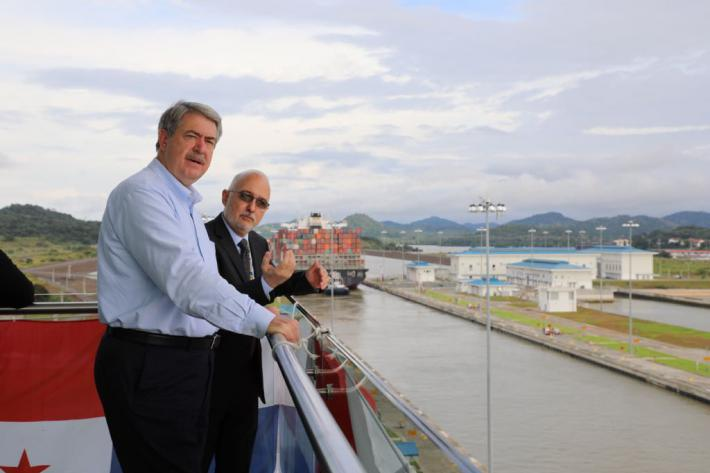 Under Secretary McKinney tours the Panama Canal highlighting the benefits of a free trade agreement with Panama.